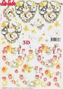 3D Etappen-Bogen-Ostern- Herz aus Blumen - 8215533