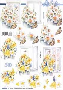 3D-Etappen-Bogen-Blumen - Narzissen-Osterglocken - 8215577