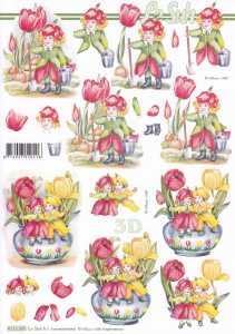 3D Etappen-Bogen-Blumenelfen-Tulpen-8215585