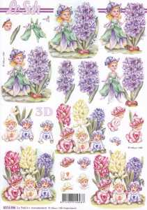 3D Etappen-Bogen-Blumenelfen-Hyazinthen -8215586