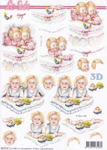 3D Etappen-Bogen -Baby und Kleinkind-Zwillinge-8215611