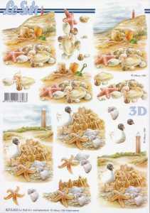 3D Etappen-Bogen- Strand - Seestern - Möve - 8215653