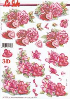 3D Etappen-Bogen-Valentin-Geburtstag- Rosen -mit Herzchen- 8215703