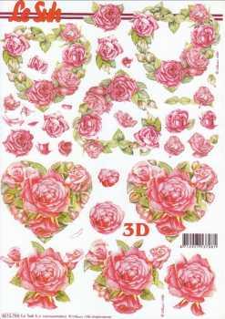 3D Etappen-Bogen-Valentin - Rote Rosen Kranz-Herzen- 8215704