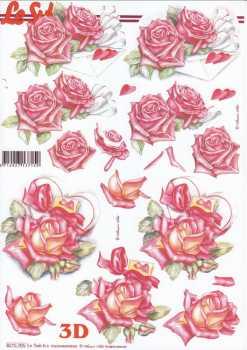 3D Etappen-Bogen-Valentin-Geburtstag- Rote Rosen-Brief-Herzenschachtel- 8215705