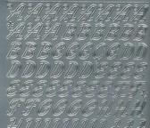 Zier-Sticker-Bogen-Alphabet-ABC-Schreibschrift 2 -0826g
