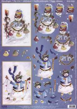 Reddy-3D Stanzbogen - 83209-Peggy Abrams-Snowly Lights / Christmas Caps