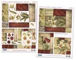 3D Stanzbogen-Set - Reddy - 83549 - Facettenkarte Lilien/Rosen