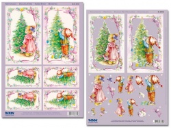 3D Stanzbogen-Set -Reddy-83730-Kinder am Tannenbaum