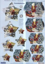 Reddy 3D Pyramiden-Stanzbogen-ST 83816a-Mädchen im Schnee