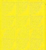 Zier-Sticker-Bogen -Ecken-gelb-8400ge