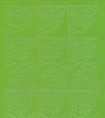 Zier-Sticker-Bogen-8400hgr -Ecken-hellgrün