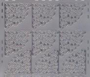 Zier-Sticker-Bogen -Ecken-silber-8400s