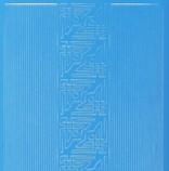 Zier-Sticker-Bogen-kleine Ecken und Ränder -hellblau-842h.bl