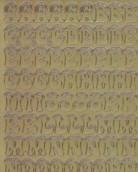 Zier-Sticker-Bogen-Alphabet-ABC-mit Schneehaube-gold-8517g