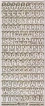 Micro-Glittersticker-Alphabet-ABC-mit Schneehaube-transparent/gold-8517gtrg