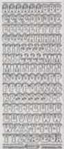 Micro-Glittersticker-Alphabet-ABC-mit Schneehaube-transparent/silber-8517gtrs