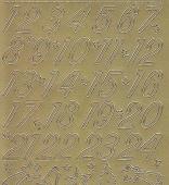 Zier-Sticker-Bogen-8525g-Adventkalender-Zahlen-gold