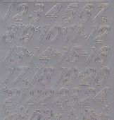 Zier-Sticker-Bogen-8525s-Adventkalender-Zahlen-silber