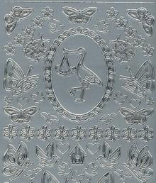 Zier-Sticker-Bogen-kleine Baby-Hochzeit- Motive-885s