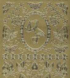 Zier-Sticker-Bogen-kleine Baby-Hochzeit- Motive-885ro