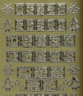 Zier-Sticker-Bogen-Adventkalender- Zahlen-verschnörkelt-gold-9019g