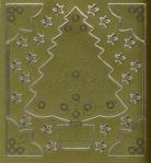 Stick-Sticker-Bogen-Tannenbaum-Ecken-Sterne-gold-9113g