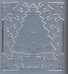 Stick-Sticker-Bogen-Tannenbaum-Ecken-Sterne-silber-9113s