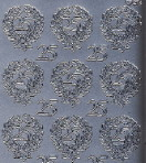 Zier-Sticker-Bogen-Jubiläums-Zahlen 25-silber-9157s