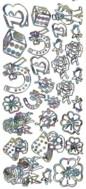 Zier-Sticker-Bogen-Glücksbringer/Symbole-multi-9470m