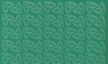 Zier-Sticker-Bogen-0975gr-190 kleine Ecken -grün