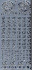 Zier-Sticker-Bogen-Jubiläum-Zahlen-silber-9930s