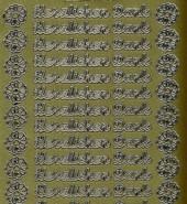 Zier-Sticker-Bogen-Herzlichen Dank-gold-9932g