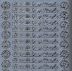Zier-Sticker-Bogen-Herzlichen Dank-silber-9932s