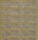 Zier-Sticker-Bogen-Zum Geburtstag-gold-9935g