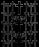 Zier-Sticker-Bogen-doppelte Kreuze-schwarz-9942schw