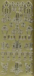 Zier-Sticker-Bogen-christliche Motive-gold-9943g