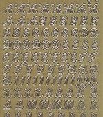 Zier-Sticker-Bogen-Großbuchstaben-ABC-gold-9944g
