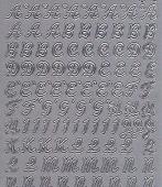 Zier-Sticker-Bogen-Großbuchstaben-ABC-silber-9944s