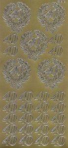 Zier-Sticker-Bogen-Jubiläum-Zahlen-40-gold-9966g