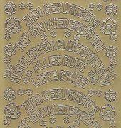 Zier-Sticker-Bogen-verschiedene Schriftzüge-gebogen-gold-9998g