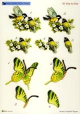 3D Stanzbogen-Blumen / Schmetterling-Angelika Wagener-AW10