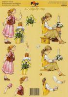 3D Bogen Kommunion/Mädchen-Pigo AV8531