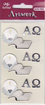 Artoz-3D Sticker-Artwork-Embellishments-50-11-Bibel-silber