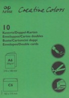 Artoz Creative-Colors-Doppelkarten-Einleger-Umschläge-C6-apfelgrün