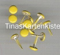 Brads-Motivklammer-Musterklammer-Rund / Nagel-gelb-5mm-N-05