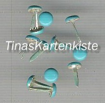 Brads-Motivklammer-Musterklammer-Rund / Nagel-hellblau-5mm-N-07