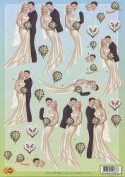 3D Etappen-Bogen - Brautpaare-Hochzeit- CD10047