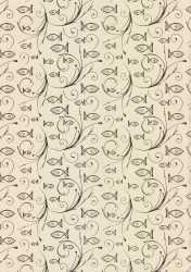 Ursus-Designkarton-59914601- ,,Eleganza'' -Kommunion / Konfirmation / Taufe-Charity-Fische gold- 01