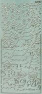 Diamant-Zier-Sticker-Bogen-Winterlandschaft -grün-W-1702dgr